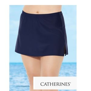 NWOT Catherine's plus size 5X swim skirt elastic